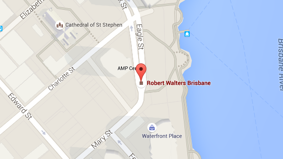 Robert Walters Brisbane office map
