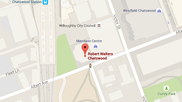 Robert Walters Chatswood office map