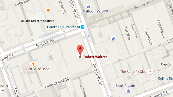 Robert Walters Melbourne office map