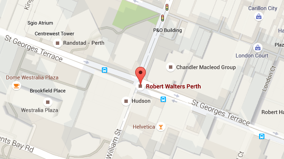Robert Walters Perth office map