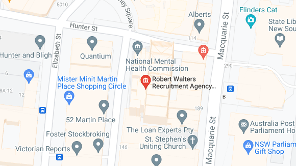 Robert Walters Sydney CBD office map