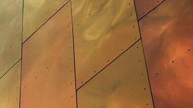 metallic bronze wall